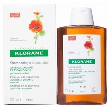 Champú para la caspa seca de klorane capuchina 200 ml.Mejor champu anticaspa para numerosos usuarios.