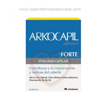 arkocapil forte cápsulas anticaida del cabello