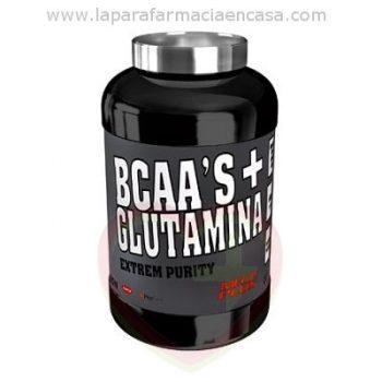 BCAA + L Glutamina sabor mandarina limon polvo, 600gr.