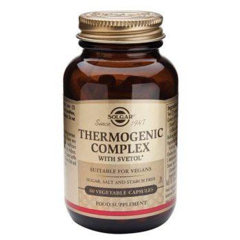 Thermogenic Complex de Solgar termogenico natural clasificado dentro de los quemadores de grasa naturales