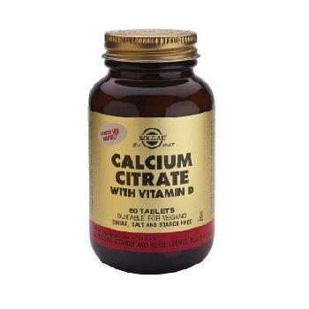 Solgar Citrato de calcio con Vitamina D, 60 Comprimidos