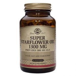 Bote de Solgar Aceite De Borraja 1.300 mg 60 Cápsulas Blandas
