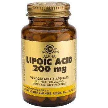 Acido alfa lipoico Solgar. ALA Ácido alfa lipoico