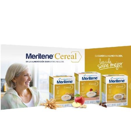 Gama Meritene pure de Nestle alimentacion para personas mayores en sobres.