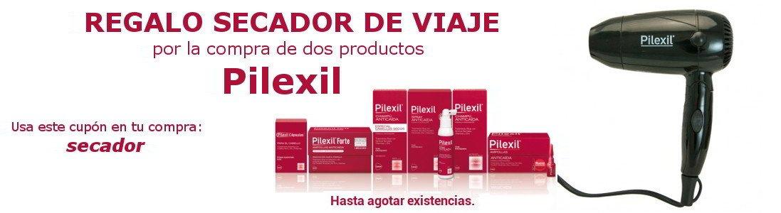 Oferta Pilexil anticaída del cabello para hombres y mujeres. Regalo Secador de viaje
