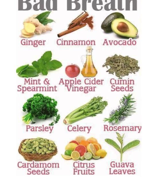 alimentos contra la halitosis