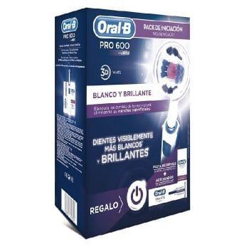 Cepillo Electrico Oral B Pro 600 kit iniciacion blanqueamiento oral b