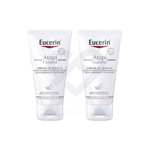 Duplo Eucerin Atopicontrol Crema De Manos, 2x75 ml