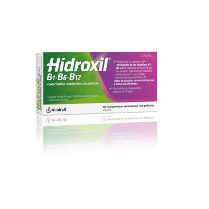Hidroxil B1 B6 B12, 30 Comprimidos