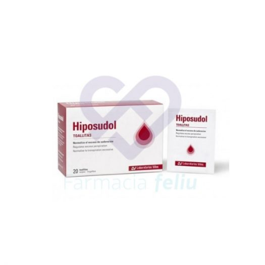 Hiposudol 20 toallitas para hiperhidrosis