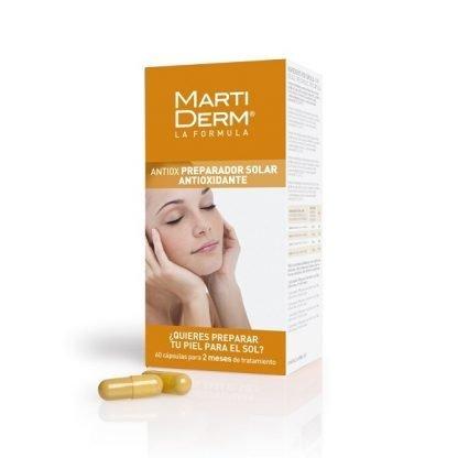 Martiderm Antiox, Tratamiento de dos meses que prepara tu piel para tomar el sol