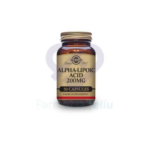 Solgar Ácido Alfa lipoico 200 mg 50 cp el más concentrado