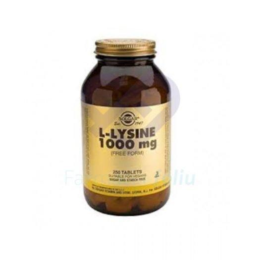 Solgar L-Lisina 1000 mg, 250 Comprimidos