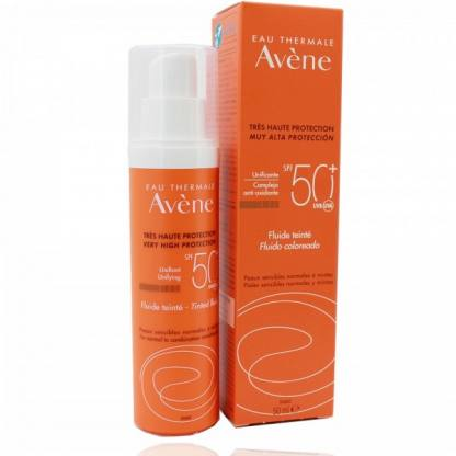 Avene Emulsión Solar Coloreada Toque Seco