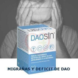 Comprar Daosin 60 Cápsulas   Tratamiento Migrañas y