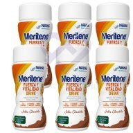 Meritene Drink Chocolate Pack de 6 botellas de 125 ml.