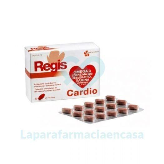 Caja y bliste de Regis Cardio 30 Comprimidos