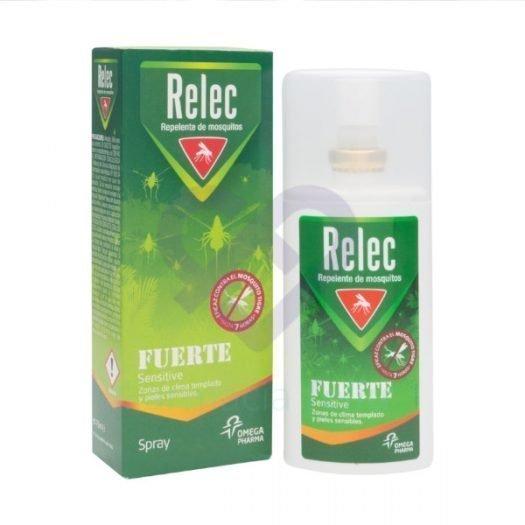 Caja y spray de Relec Fuerte Sensitive