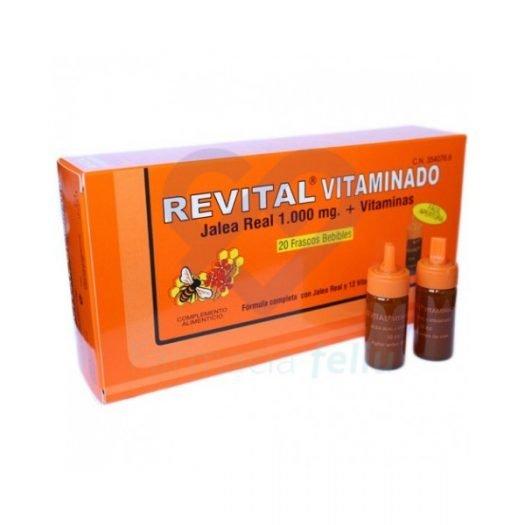 Caja de 20 ampollas de Revital Vitaminado Forte