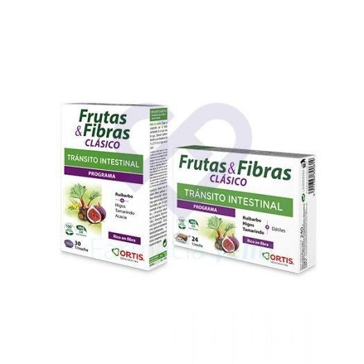 Cajas de comprimidos y cubos de Frutas y Fibras Clásico