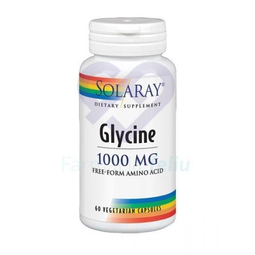 Solaray Glycine 1000 mg, 60 Cápsulas vegetales