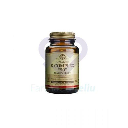 B complex 50 Solgar High Potency 100 cápsulas
