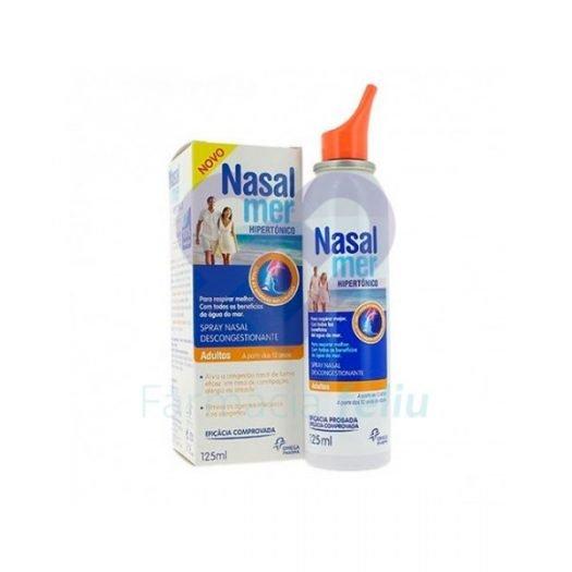 Caja y bote de Nasalmer Spray Nasal Hipertónico, 125 ml
