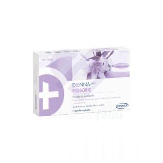 Caja de Donna Plus Floboric 7 Cápsulas Vaginales