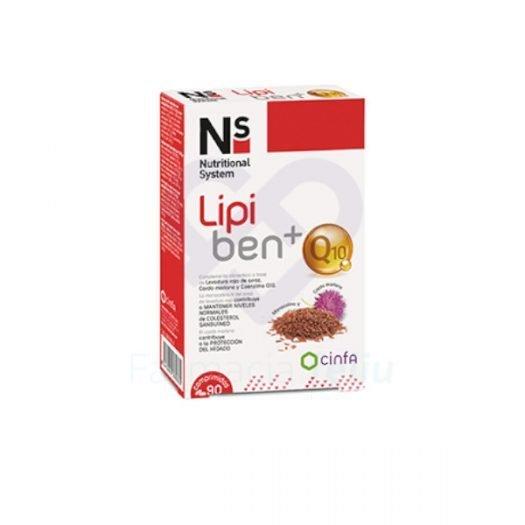 Caja de Lipiben Q10, 90 Cpmprimidos