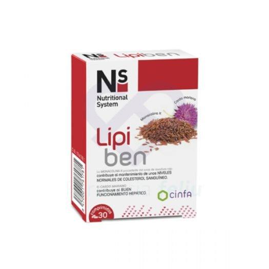 Caja de NS Lipiben, 30 Comprimidos
