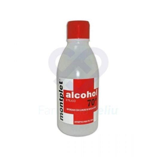 Botella de 1 litro de Alcohol 70º Monplet