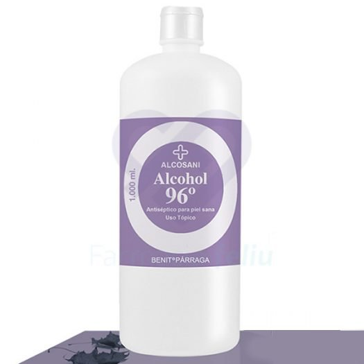 Bote de 1 Litro de Alcohol 96º Alcosani