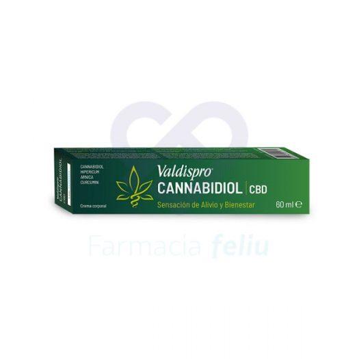 Caja de Valdispro Cannabidiol Crema, 60 ml