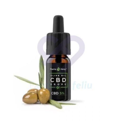 Cannabidiol en gotas con aceite de oliva al 5% 10 ml