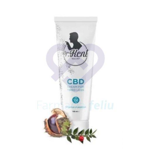 Crema de CBD para piernas cansadas Dr. Kent 100 ml