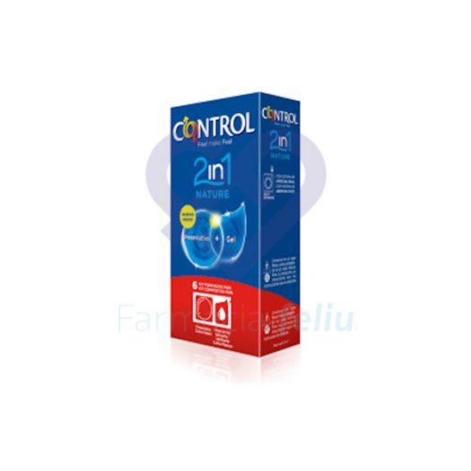 Caja preservativos Control Nature 2 en 1