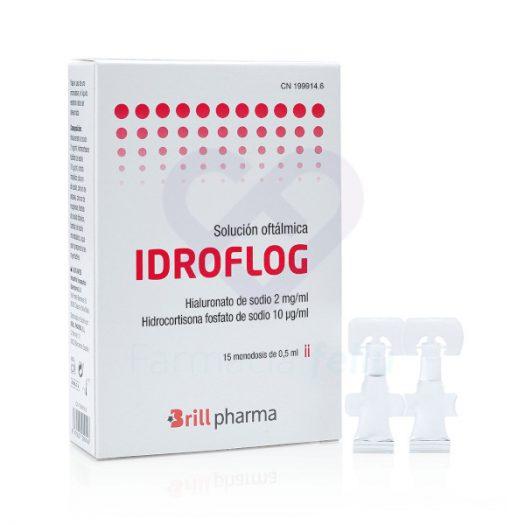 Caja de Idroflog Solución Oftálmica, 15 Monodosis