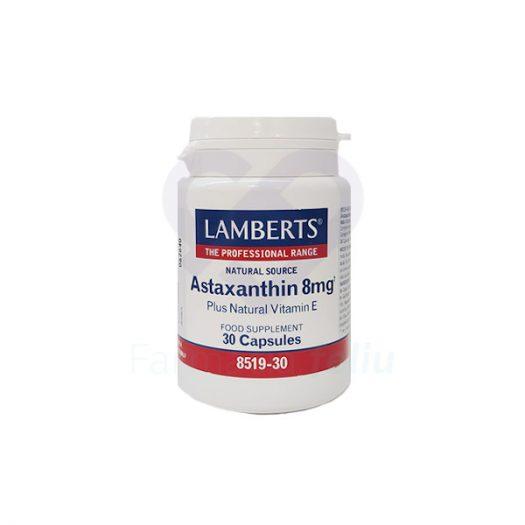 Bote Lamberts Astaxantina 8mg, 30 Cápsulas