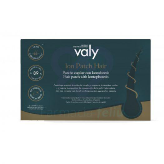 Caja de Valy Ion Patch Hair reduce la caída capilar estacional y androgénica, estimula el crecimiento y la densidad, aporta brillo y fuerza al pelo.