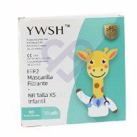 10 Mascarillas FFP2 Infantiles Blancas YWSH